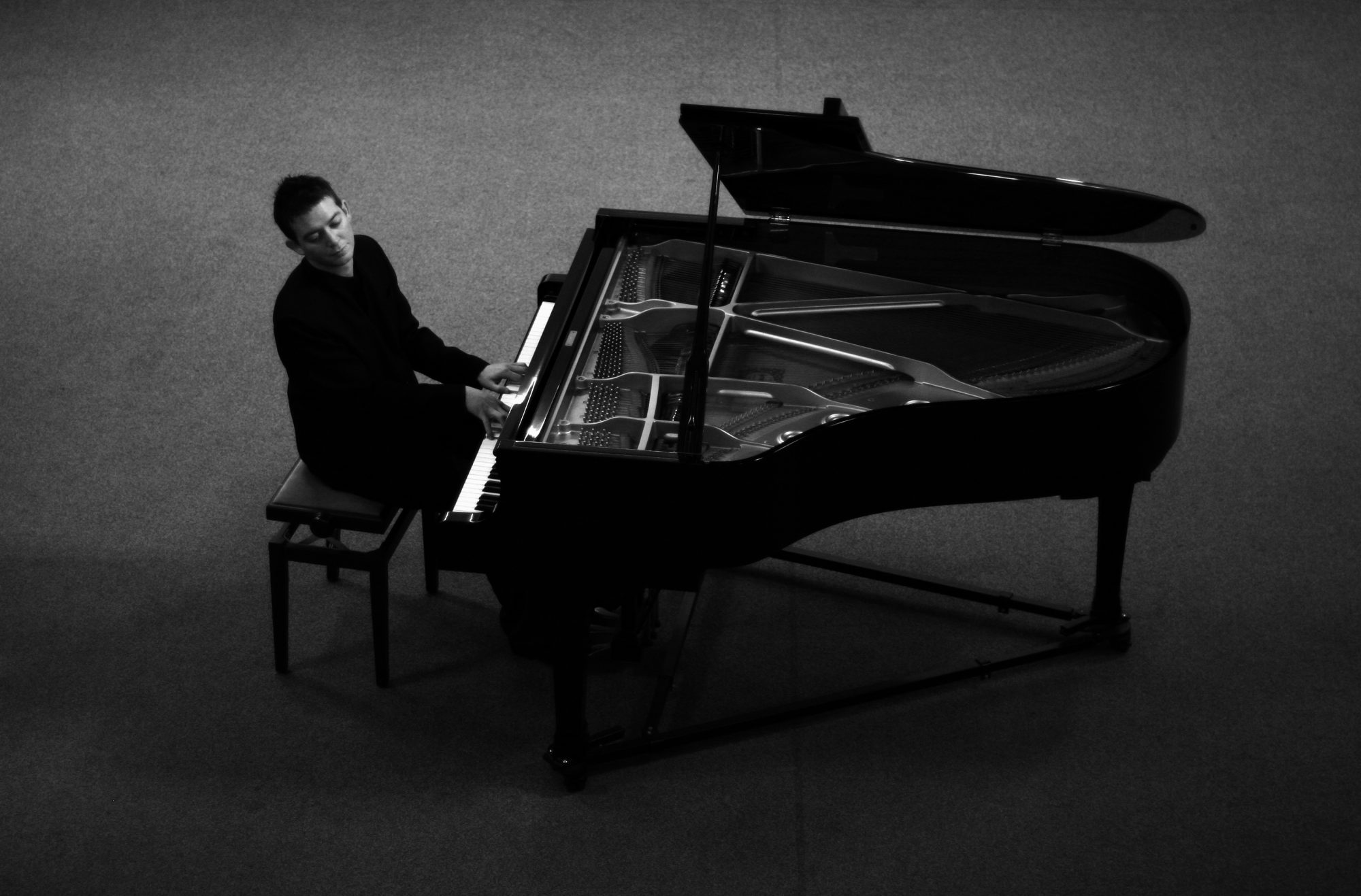 Image result for man infront of piano bw