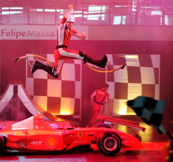 Acrobatic Stilt Jumpers