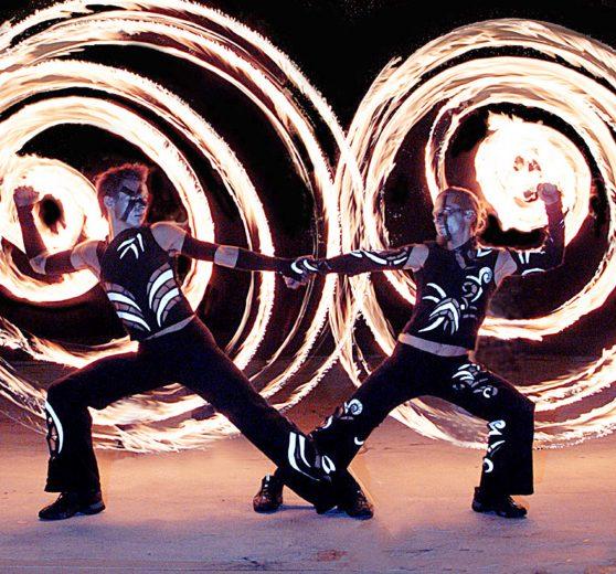 Fire Poi Dancers