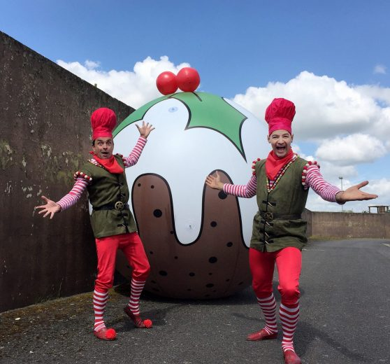 Giant Christmas Pudding - Christmas Attraction