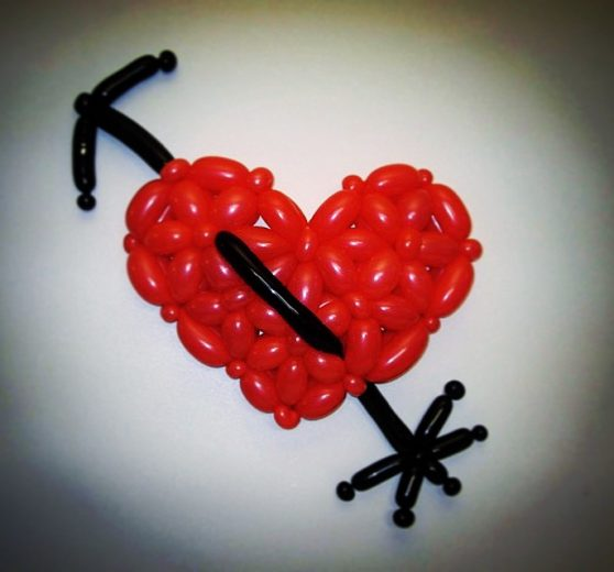 Valentine Balloon Modelling