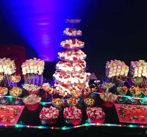 Glowing Candy Buffet