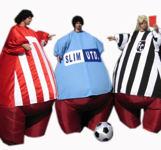 Giant Footballer Stilt Walkers