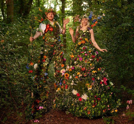 Mr & Mrs Flora - Stilt Walkers today
