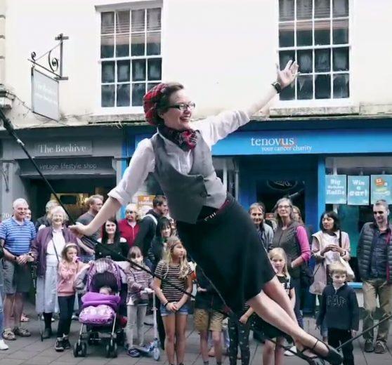 Tightrope Street Performance